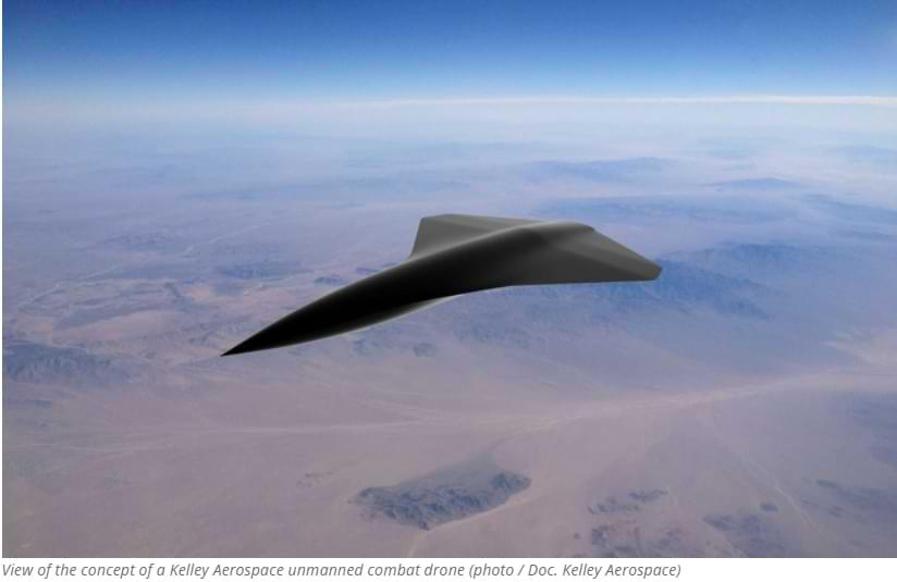 Este dron de combate no tripulado puede alcanzar velocidades de 2.414 km h