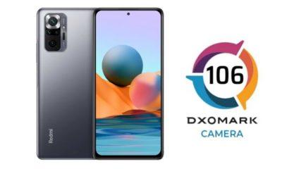 Redmi Note 10 Pro obtiene una puntuación de cámara trasera de 106 de DXOMark