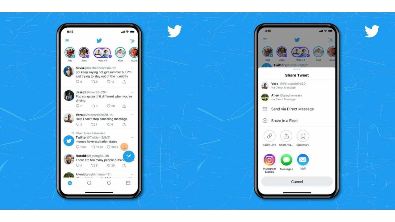 Los usuarios de Twitter en iOS ahora pueden compartir tweets directamente en las historias de Instagram