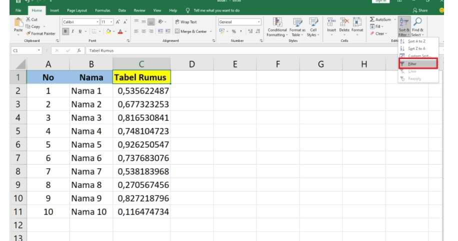 Cómo aleatorizar el orden de los números en Microsoft Excel