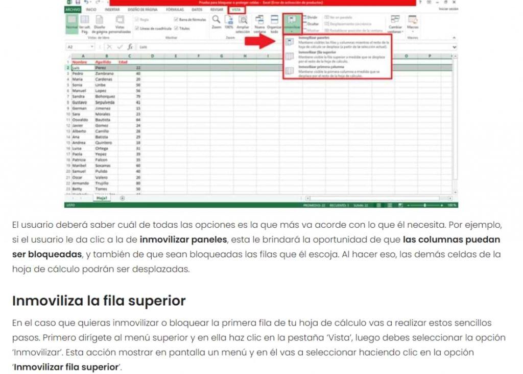 Cómo bloquear celdas de Excel para proteger tus fórmulas - Tutorial