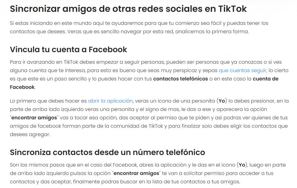Cómo buscar un usuario de TikTok - Sincroniza amigos de redes sociales