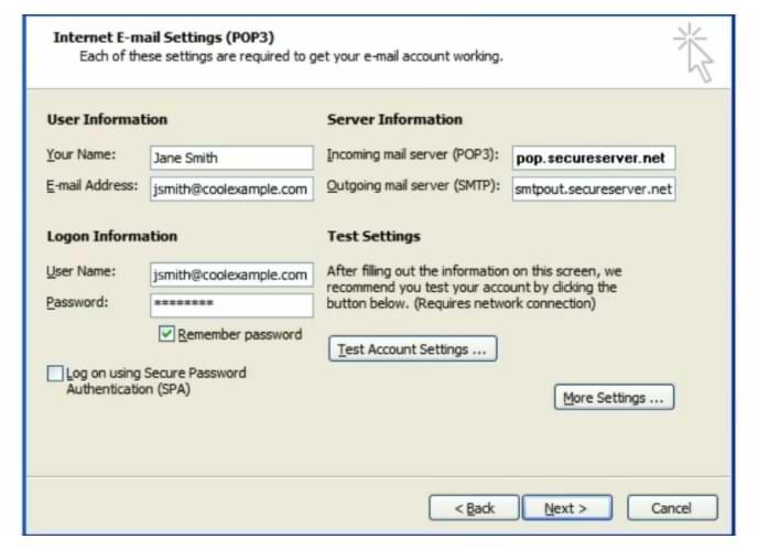 Cómo configurar una cuenta de correo electrónico en Microsoft Outlook