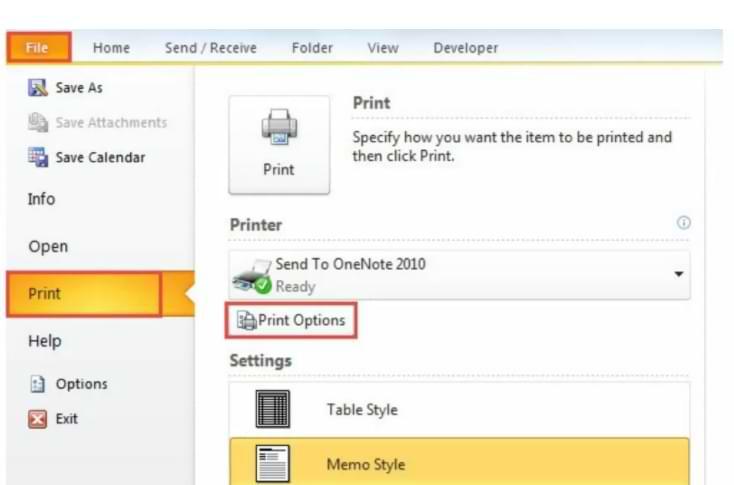 Cómo crear una impresión personalizada en Microsoft Outlook