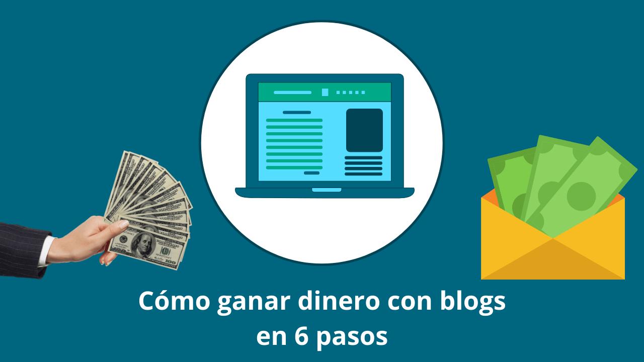 Cómo ganar dinero con blogs en 6 pasos