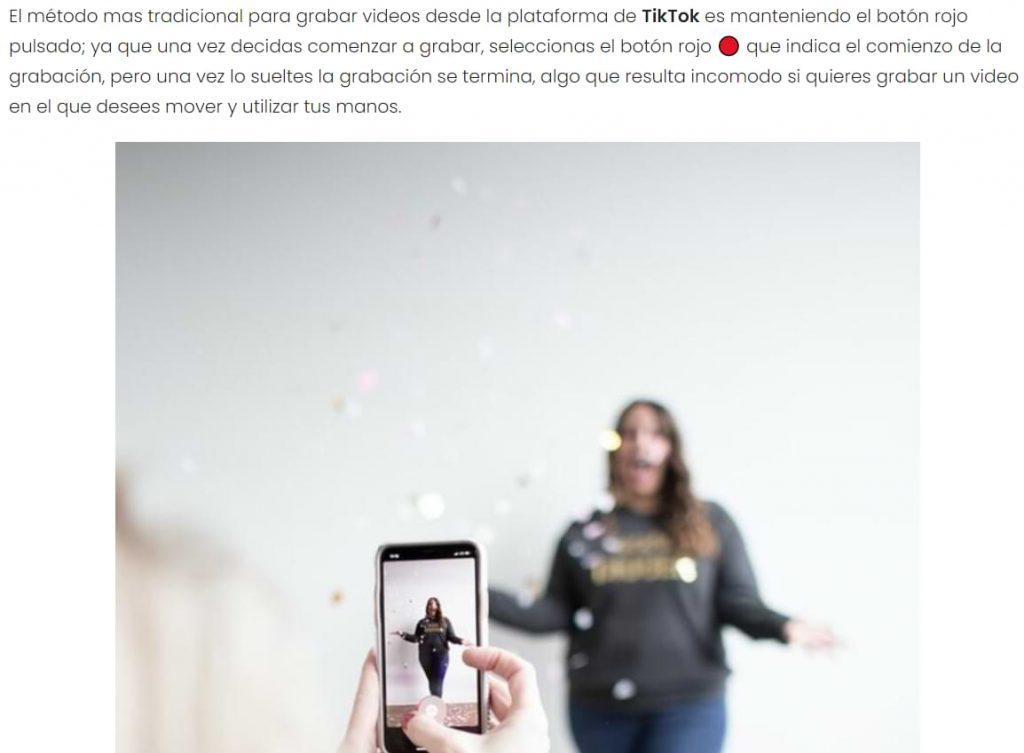 Cómo hacer zoom en TikTok sin usar las manos - Trucos para tus vídeos
