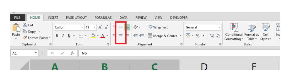 Cómo organizar el texto en el centro de una tabla de Microsoft Excel