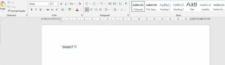 Cómo utilizar el texto de relleno Lorem Ipsum en Microsoft Word