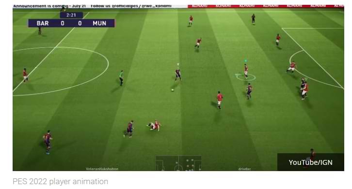 Konami lanza oficialmente la versión de demostración de PES 2022, parece minimalista