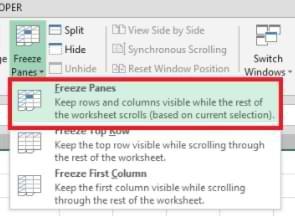 Cómo congelar los paneles múltiples filas en Excel