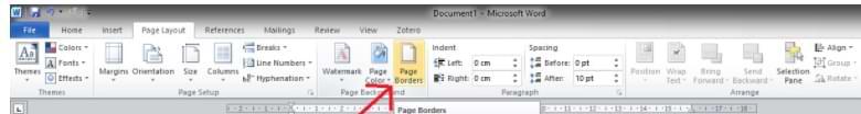 Cómo crear un borde de Microsoft Word