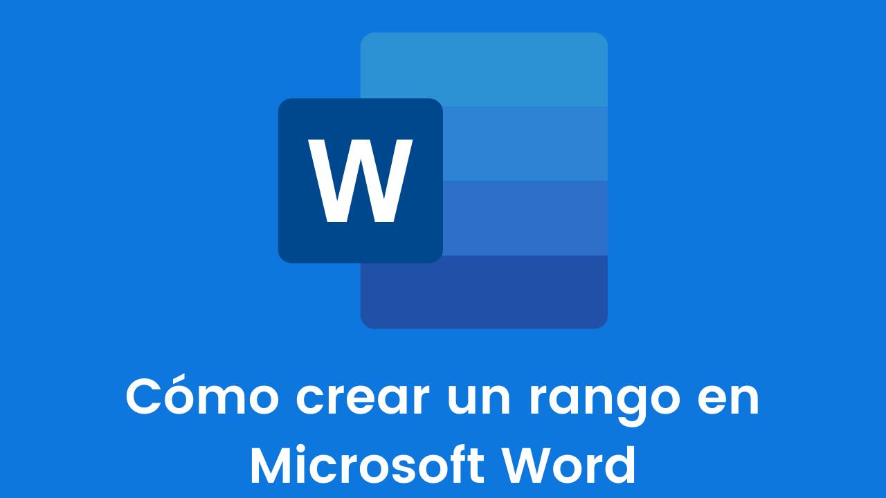 Cómo crear rango inferior en MS Word