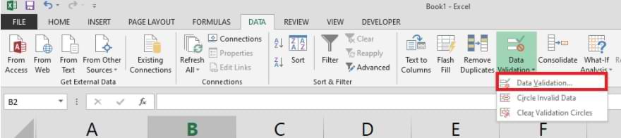 Cómo crear una lista desplegable en Microsoft Excel