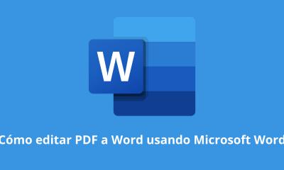 Cómo editar PDF a Word usando Microsoft Word