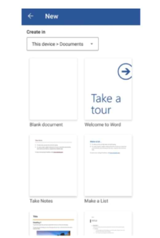 Cómo escribir Microsoft Word en Mobile