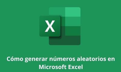 Cómo generar números aleatorios en Microsoft Excel