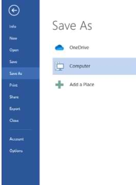 Cómo guardar un documento de Microsoft Word
