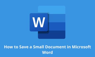 Cómo guardar un documento pequeño en Microsoft Word