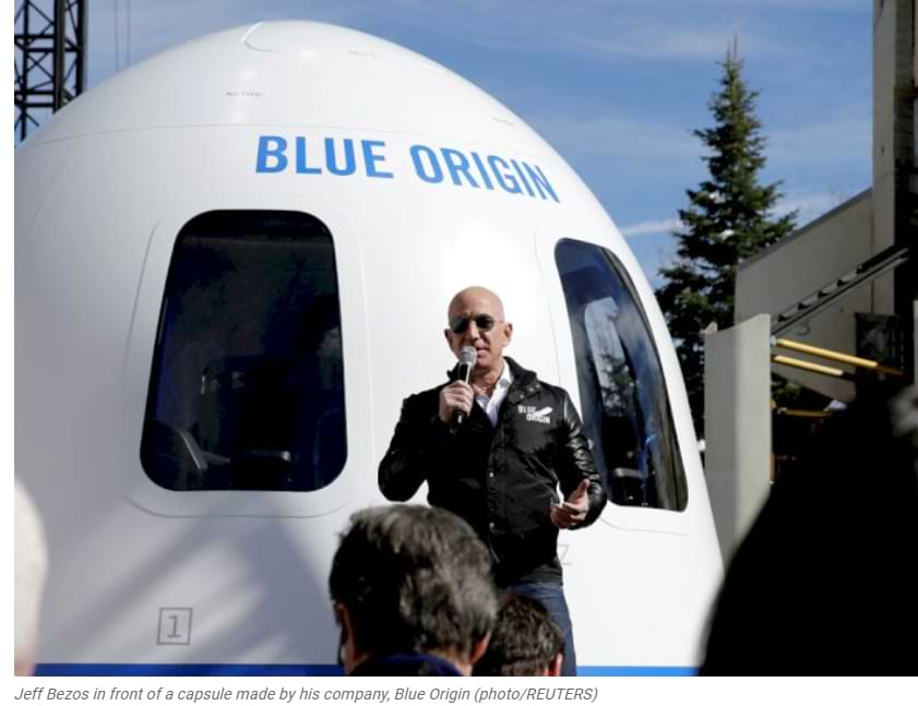La compañía de origen azul de Jeff Bezos critica a Spacex que va a la luna