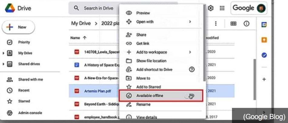 Cómo acceder a los documentos en Google Drive Offline