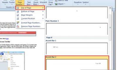 Cómo crear automáticamente números de página en Microsoft Word 2010