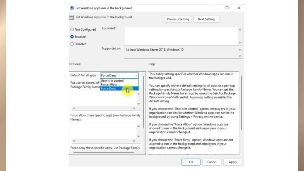 Cómo desactivar permanentemente las aplicaciones en segundo plano modernas en Windows 11