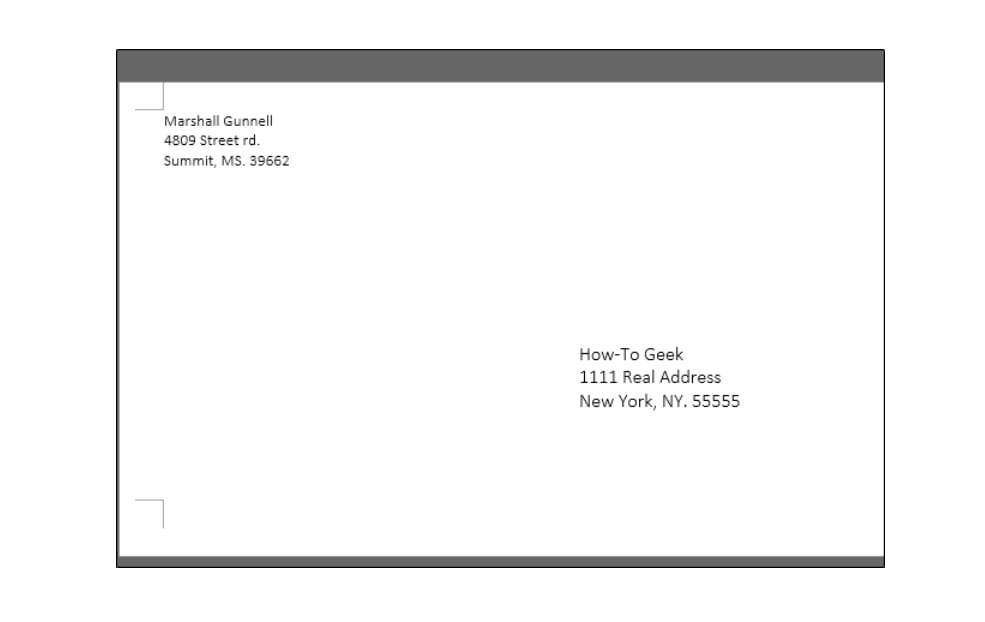 Cómo imprimir texto en sobres de carta con Microsoft Word
