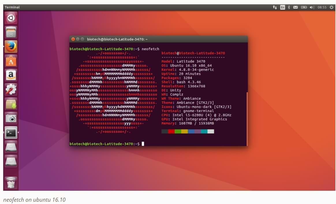 Cómo instalar NeoFetch en Linux Terminal con repositorio