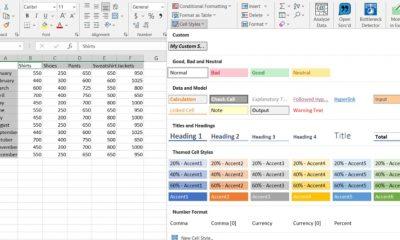 Cómo usar y crear estilos celulares en Microsoft Excel