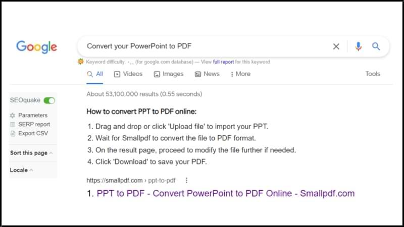 PowerPoint to PDF