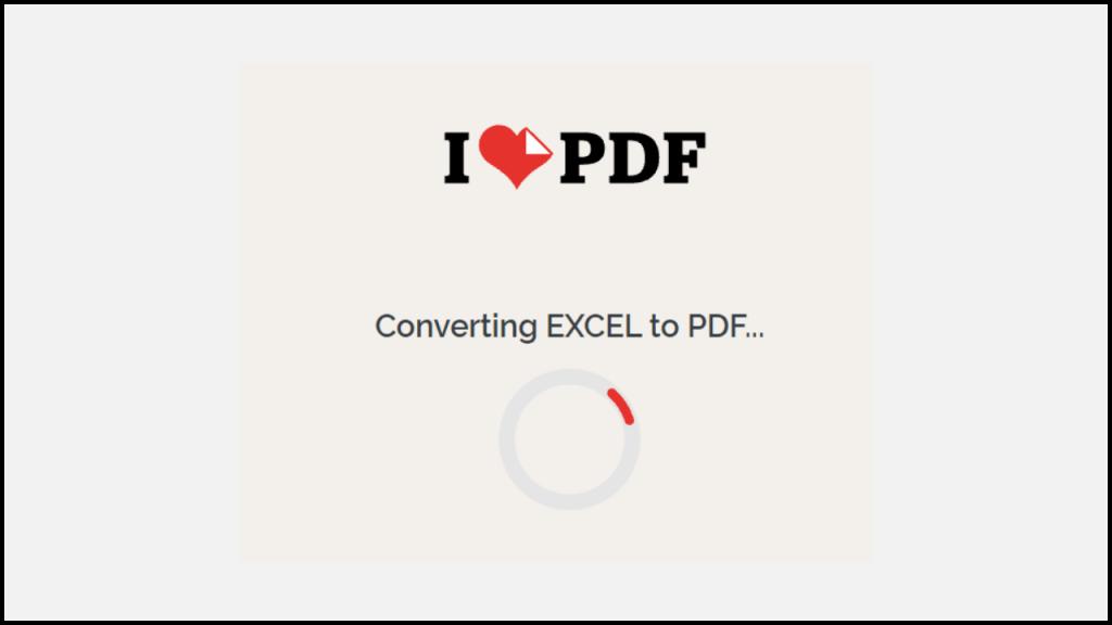 Convierta Excel a PDF en línea