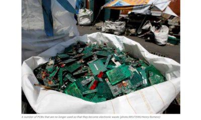 Se prevé que los residuos electrónicos alcancen los 57,4 millones de toneladas métricas en 2021