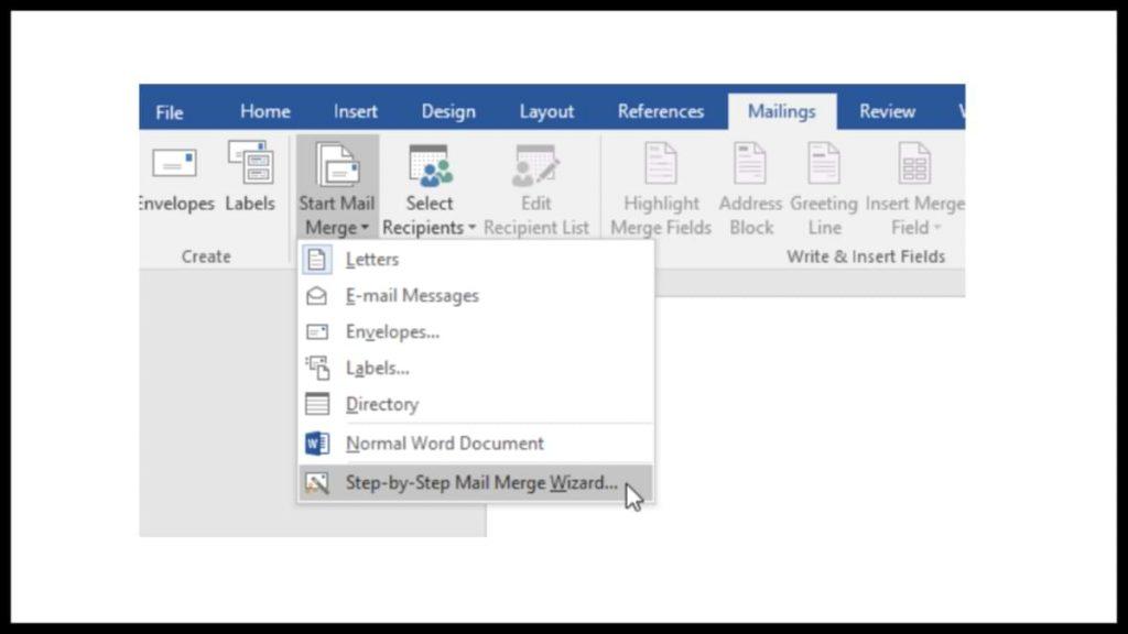 hacer una combinación de correspondencia en Microsoft Word 2016